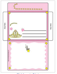 Princess Letter Envelope